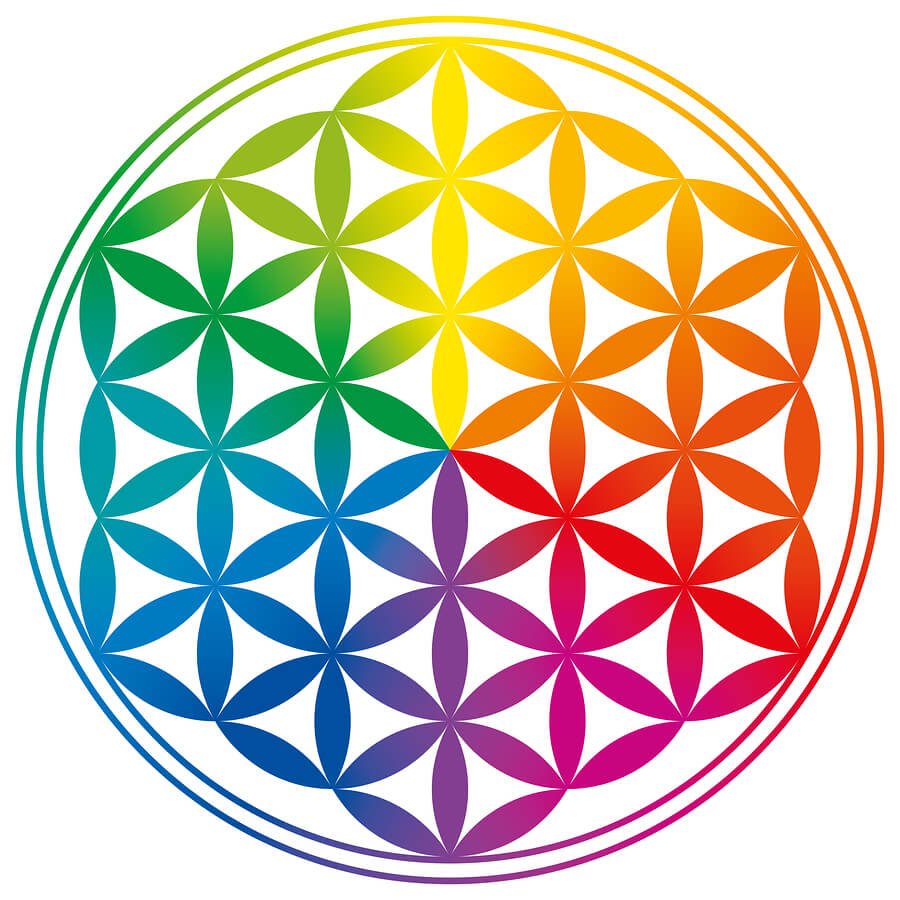 "Body energy meridians are crucial for our well being and are referred to the beautiful ""flower of life"""