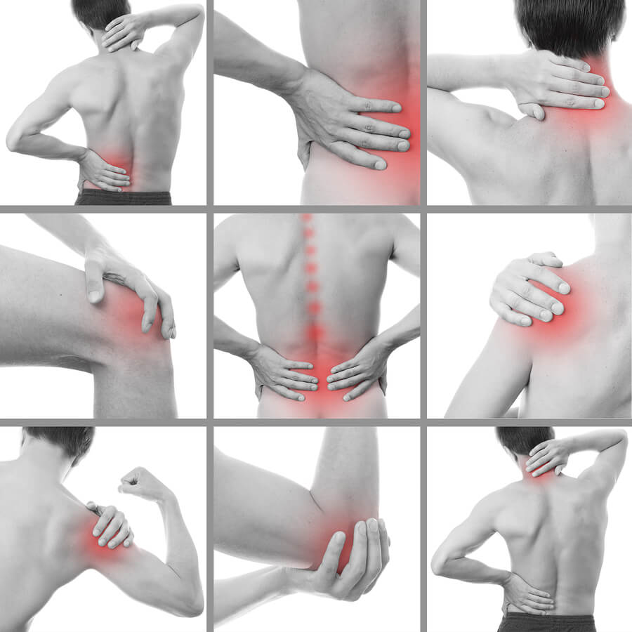 Pain relief or body energy meridians points